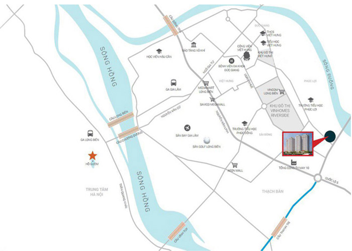 VỊ trí dự án ruby city ct2