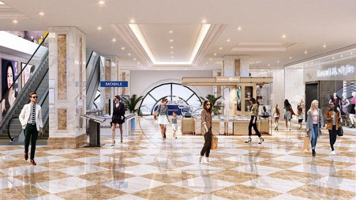 khu mua sắm Eco Smart City Cổ Linh Long Biên