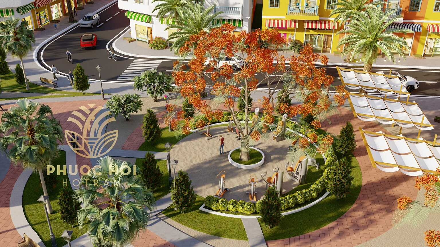 Công viên bên trong dự án Phước Hội Hồ Tràm